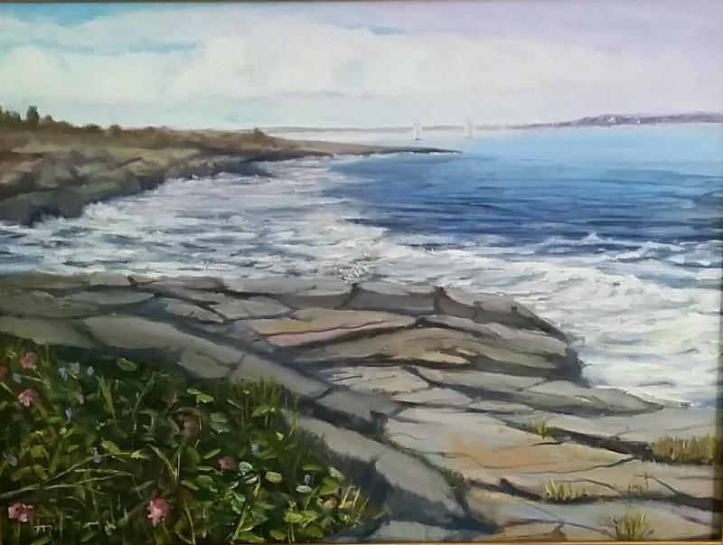 """June Day at Beavertail Park"" is on exhibit at the Mercy Center"